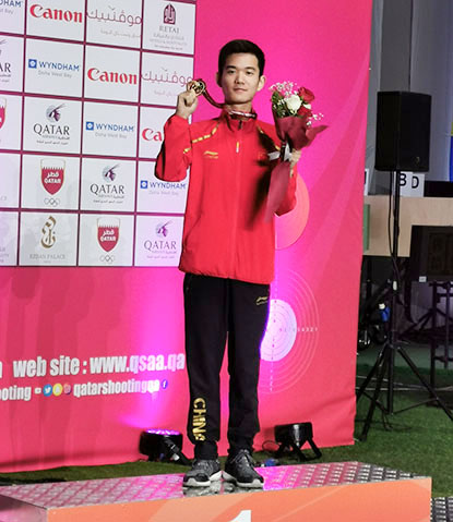 海亮高中王敏涛同学获亚洲射击锦标赛冠军